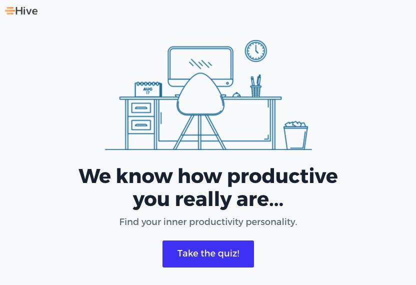 Saas product marketing - hive