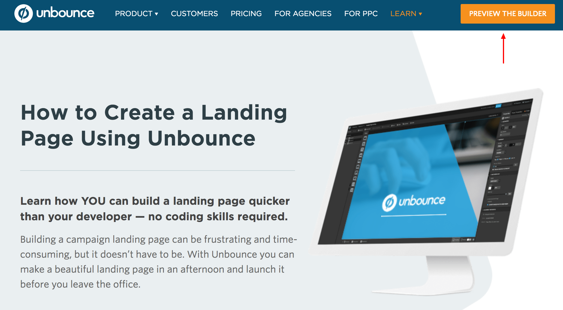 how to create a landing page - saas product marketing