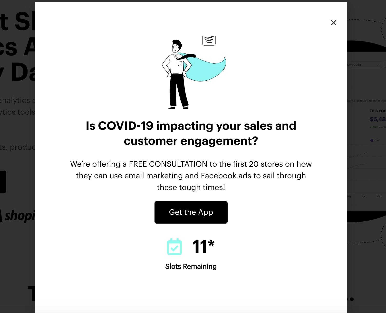 revtap shopify app offer covid19