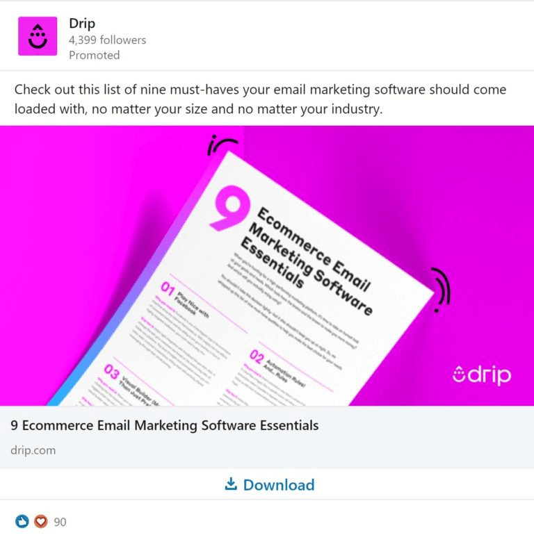 content advertising example - drip